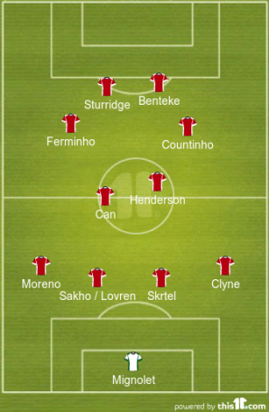 Suggested Liverpool LIneup under Klopp